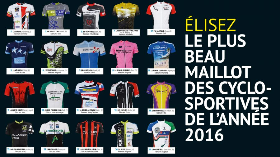 Participez à l'élection du maillot des Cyclosportives 2016